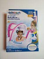 "Swim School My Unicorn Baby Boat 33"" Inflatable Level 1 UPF 50 6-18 Months"