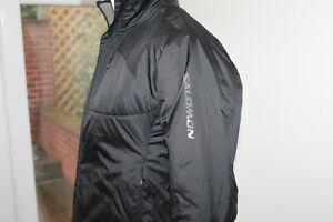 Womens Salomon Ladies Black Jacket Ski S Small Primaloft walking hiking sking
