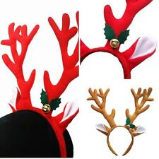 BL_ Reindeer Antlers Headband Headwear Hair Hoop Xmas Cosplay Party Decor Novelt