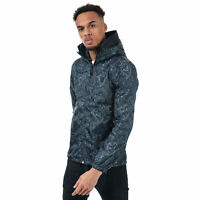 Mens Pretty Green Paisley Print Lightweight Jacket In Navy