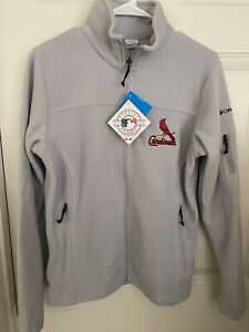 New With Tags Columbia St Louis Cardinals Womens Fleece Jacket Size Medium $70