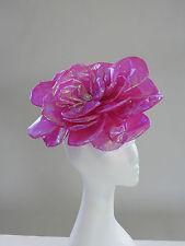 Unique Large Pink Flower Fascinator A011