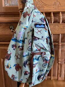 HTF Kavu Sling Rope Bag Sasquatch bigfoot yeti