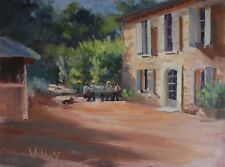 French Landscape, French Country House Painting, Original Oil, Canvas  S Whitney