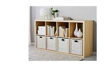 Ikea Box Storage Basket Magazine Bookcase Toy Organiser 32x34x32CM BRANAS White