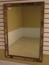F39829E: Decorative Rectangular Mirror w. Mirrored Panel Border
