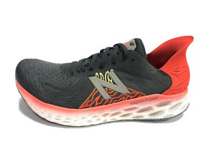 New Balance, Men's Fresh Foam 1080 Black/Red Running Shoes, Size 10.5M