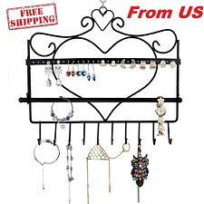 Jewelry Display Rack Hanger Organizer Wall Hook Earring Holder Bracelet Necklace