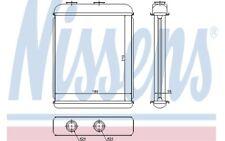 NISSENS Radiador de calefacción OPEL ASTRA ZAFIRA CHEVROLET VAUXHALL 72662