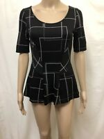 VERONIKA MAINE BLOUSE TOP WOMENS ~ SIZE EXTRA SMALL ~ GREAT COND PEPLUM STYLE