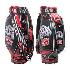New Guiote BULLDOG black Golf  staff bag caddie cart bag comes with Rainhood