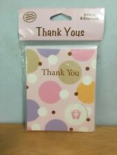 Tiny Toes Baby Girl Thank You Cards