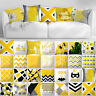 """18x18"""" Yellow Accent Throw PILLOW COVER Sofa Couch Home Bed Decor Cushion Case"""