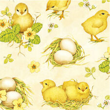 40 Paper EASTER Napkins CHICKEN FIELD, EGGS IN NEST Lunch