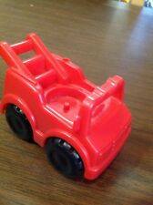 fisher price little people red fire station truck Village Discovery Rescue car