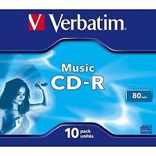 Cd -r audio 700mb 12X Jewel Verbatim Case 10 43365