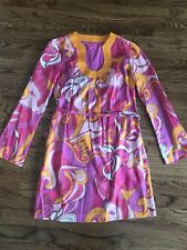 Banana Republic Trina Turk Collection Dress Women's 4 Pink Orange Print