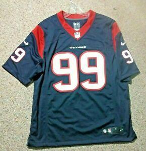 NFL Houston Texans JJ Watt #99  Men Large Nike On Field Jersey Style T-Shirt