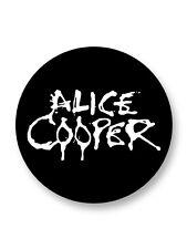 "Pin Button Badge Ø25mm 1"" Alice Cooper Hard Shock Rock USA"