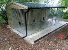 triple dog kennel and run large 3 bay