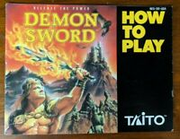 Demon Sword (Nintendo Entertainment System) NES - Manual Only - No Game