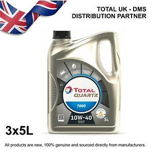 Total Quartz 7000 10w-40 Engine Oil (3x5ltr)