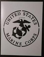"US U.S. United States Marines Marine Corps 8.5"" x 11"" Stencil FAST FREE SHIPPING"
