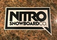 Nitro Snowboard Sticker - Snowboarding Skiing Mountain Sports Burton Ski Aspen