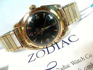 Vintage Men's 1960's Zodiac Rotographic Automatic Swiss 17J Mechanical Watch