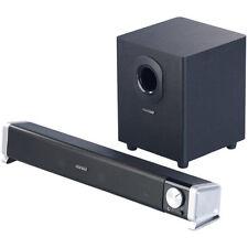 Boxen: 2.1-Soundbar mit externem Subwoofer für PC und TV, Bluetooth, 40 Watt