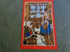 Vintage TAPESTRY / WALL HANGING - ALL COTTON - COLONIAL SCENE??