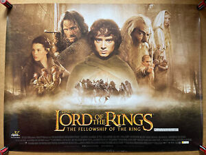 Lord of the rings,the fellowship of the ring - Orig UK Quad cinema poster - 2001