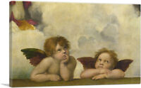 ARTCANVAS Sistine Madonna Two Angels Detail Rectangular Canvas Art Print Raphael