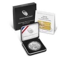 2018 P World War I Centennial Proof Silver Dollar Coin Mint Package&COA Item18ca
