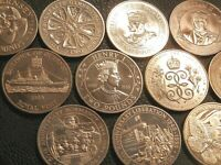 Guernsey Jersey Crown Sized Two Pound £2 BU Commemorative Coins Drop Down Menu