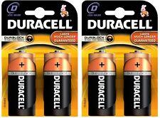4 x Duracell D Alkaline LR20 1.5V Batteries MN1300 Duracell Battery Brand New