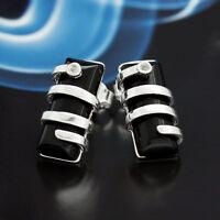 Onyx Silber 925 Ohrringe Damen Schmuck Sterlingsilber S301