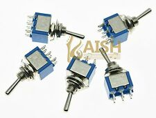 5x DPDT Guitar Mini Toggle Switch 2-Position ON-ON 6 PIN Car/Boat Switches