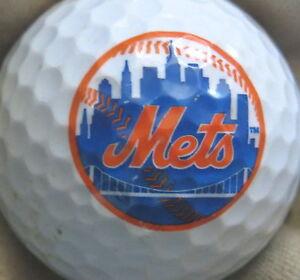3 Dozen Assorted Brands Mint New York Met MLB LOGO Used Golf Balls