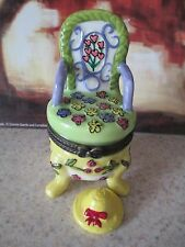 0709  GARDEN  CHAIR TRINKET BOX  GREAT TO COMBINE  WITH GIFT OF CASH/ CHECK