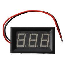 Mini Voltímetro Voltaje panelmeter DC 0 - 200 V 20 mA Amarillo tres cables A7W6