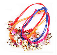 Ajustable Colourful Pet Small Dog Puppy Cat Kitten Colloar Necklace With Bell