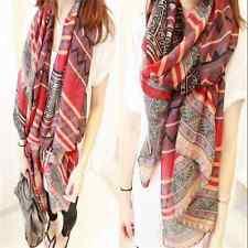 Beautiful Women Print Long Soft Cotton Voile Scarf Wrap Shawl Scarves Stole FT15