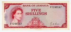 Jamaica … P-51Ad … 5 Shillings … L.1960  … *XF* ... Sign # 4