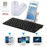 Black Wireless Keyboard Bluetooth 3.0 Keypads For Windows Mac Ios Android+2 MOUS