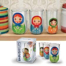 FRED BABUSHKUPS: MATRYOSHKA NESTING GLASS TRIO