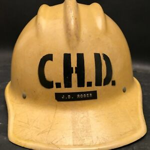 VTG Hard Boiled Bullard Fiberglass Helmet,Connecticut Highway Dept.,Hard Hat