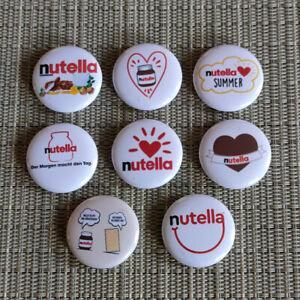 8 Stück Nutella Button / Pins / Badge / 1 Inch / 25 mm / Top / Rar