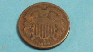 ⭐ CIVIL WAR ERA 1864 2~CENT COIN SHIPS FREE 😃