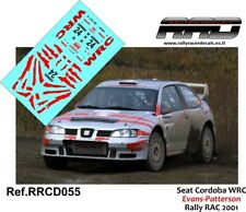 DECAL/CALCA 1/43; Seat Cordoba WRC; Evans-Patterson; Rally RAC 2001